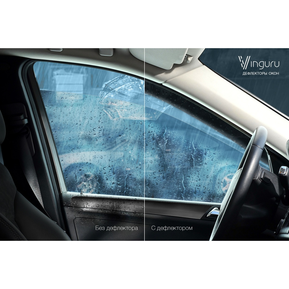 Window Deflectors Vinguru Hyundai Elantra 2006-2011 Gray False SKO