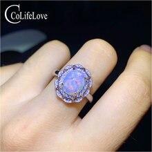 Ювелирные изделия colife 925 Серебряное кольцо с опалом для