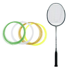Linha de corda de badminton durável 20-26lbs raquete de treinamento de badminton linha de raquete de badminton bg65 95 0.7mm * 10m