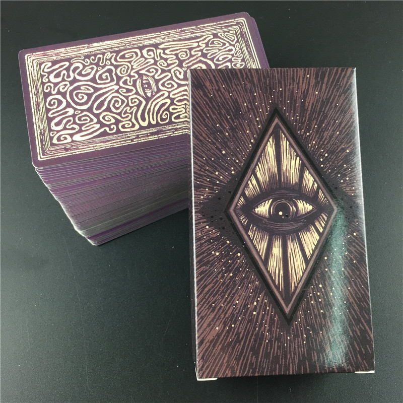 Tarot Cards Deck English Light Visions Cards Deck Oracles Electronic Guide Book Game Toy Divination Board Game