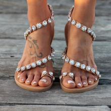 Women Sandals Bling Crystal Summer Shoes Woman Beach Flat Sandals Plus Size Flip Flop Ladies Soft Bottom Slippers Female 35~43 siketu women ethnic bohemia flat sandals shoes woman crystal flower flip flop beach sandals casual shoes size 35 42 blue beige