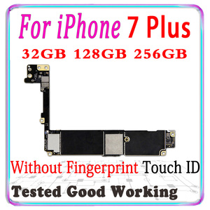 "Image 2 - Factory unlocked for iphone 7 Plus 5.5"" Motherboard With Touch ID for iphone 7 Plus 7Plus Main Logic board with chips IOS System"