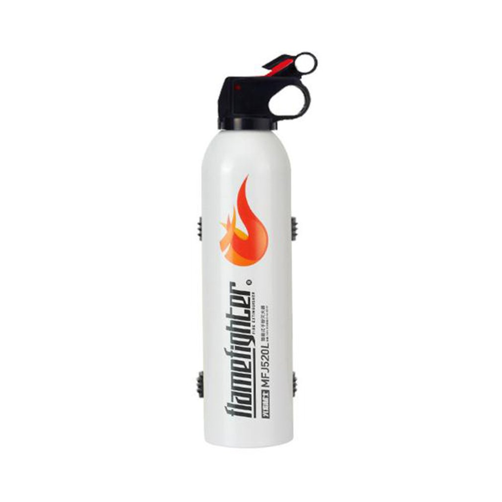 White Mini Portable Car Fire Extinguisher With Hook Dry Chemical Fire Extinguisher Safety Flame Fighter For Home Office Car