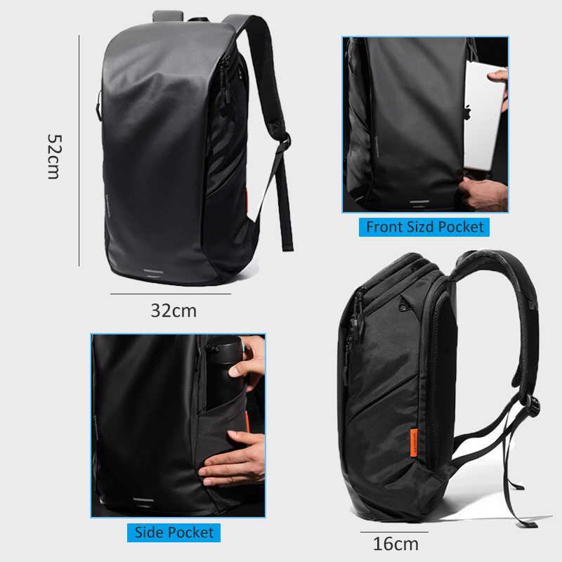 """Tangcool çok fonksiyonlu erkek Laptop sırt çantası 15.6 """"büyük kapasiteli su geçirmez sırt çantaları erkek seyahat çantası rahat Mochila siyah"""
