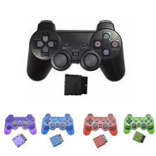 Kuulee Transparent Color Controller For Sony PS2 Wireless Bluetooth Gamepad 2.4G