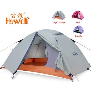 Image 1 - Hewolf 1595 야외 더블 레이어 초경량 알루미늄 극 방수 방풍 캠핑 텐트 2.51KG 비치 텐트 Barraca