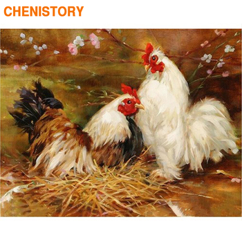 CHENISTORY Frame Cock DIY Painting By Numbers Modern Wall Art Picture By Numbers Acrylic Canvas By Numbers For Home Decors 60x75 фото