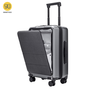 NINETYGO 90FUN Carry On Luggage with Spinner Wheels 20 Inch Hardside Hardshell TSA Compliant Suitcase Front Pocket Lock Cover - discount item  40% OFF Luggage