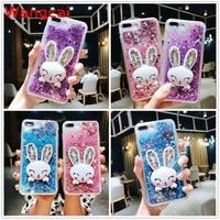 Für Xiaomi Redmi Hinweis 9S 9 8T 8 7 6 8A 5A 5 4X 4A K30 K20 Pro x10 5G Max Fall Quicksand Flüssigkeit Kaninchen Halter Stehen Glitter Abdeckung