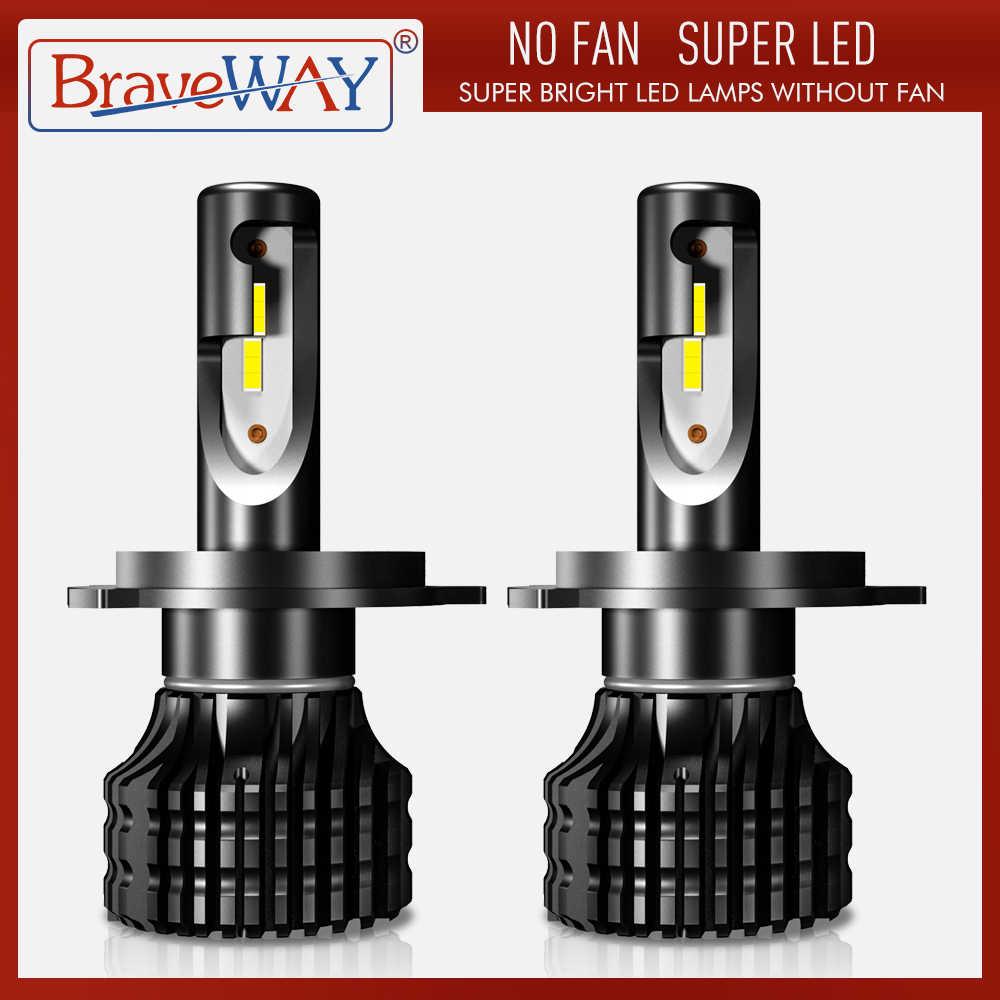 BraveWay H4 LED H7 H11 H1 H3 9005 9006 ไฟหน้ารถ LED HI-Lo Beam 72W 8000LM 6500K หมอกหลอดไฟ S2 H7 Auto โคมไฟ Moto