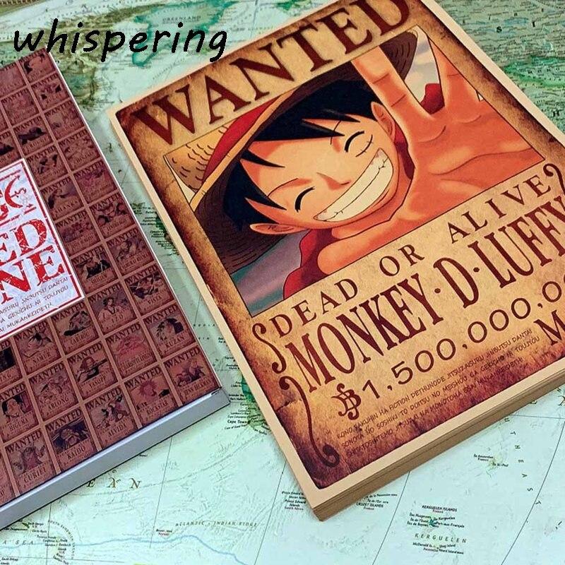 100 Pçs/set Japonês Anime One Piece Cartão Postal/Cartão/Mensagem/Cartão de Natal E Presentes de Ano Novo