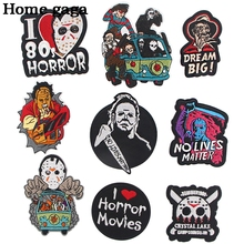 Patches Clothing Stickers Horror Embroidered-Badge Iron On Movies Applique Sewing D3166