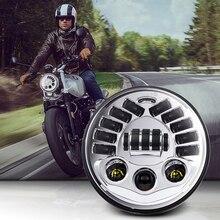 """مصباح أمامي LED قابل للتكيف مع دراجة نارية Harley ، 7 """"، لسيارات BMW R NineT R9T ، H4 ، 7 بوصة"""