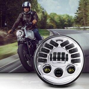 """Image 1 - مصباح أمامي LED قابل للتكيف مع دراجة نارية Harley ، 7 """"، لسيارات BMW R NineT R9T ، H4 ، 7 بوصة"""