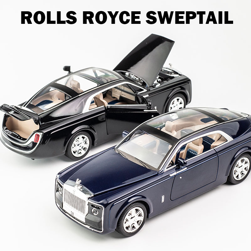 1:24 Rolls-Royce Sweptail Alloy Die-cast Model Car Toy Sound/&Light Collection