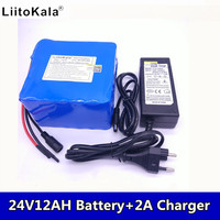 6S6P LiitoKala 24 v 12ah lithium battery 25.2 V 12ah battery Li ion battery for bike 350 w and bike 250 w of engine wit