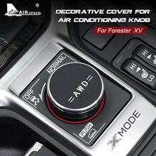 Cubierta de perilla para interruptor de cambio de marchas, accesorio de aire acondicionado para Subaru Forester XV 2018 2019 2020