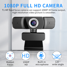 1080P Webcam HD Web Camera with Built-in HD Microphone 1920 x 1080p USB Widescreen Meeting Conference Live Stream Web Cam