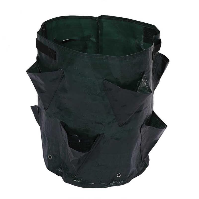 フェルト布/PE 花栽培イチゴ野菜植栽成長バッグバレルポテトプランターのためのガーデン用品