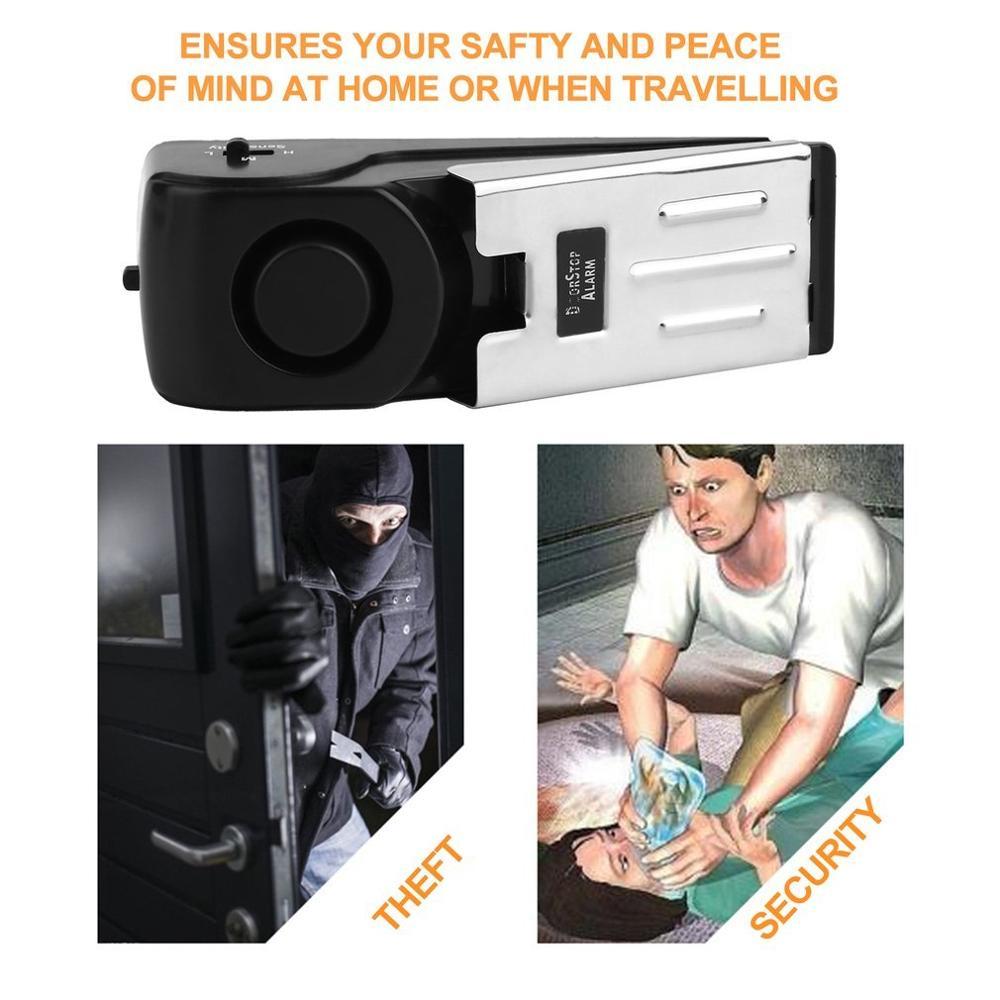 120дБ дверной стоп-сигнал 125дб дверной блок вибрационная сигнализация для путешествий охранная дверная сигнализация стопор дверной стоп для...