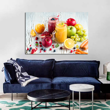 Oil Painting Fruit And Juice Realist Canvas Painting Kitchen Home Decoration Frameless Wall Art Paint Pictures