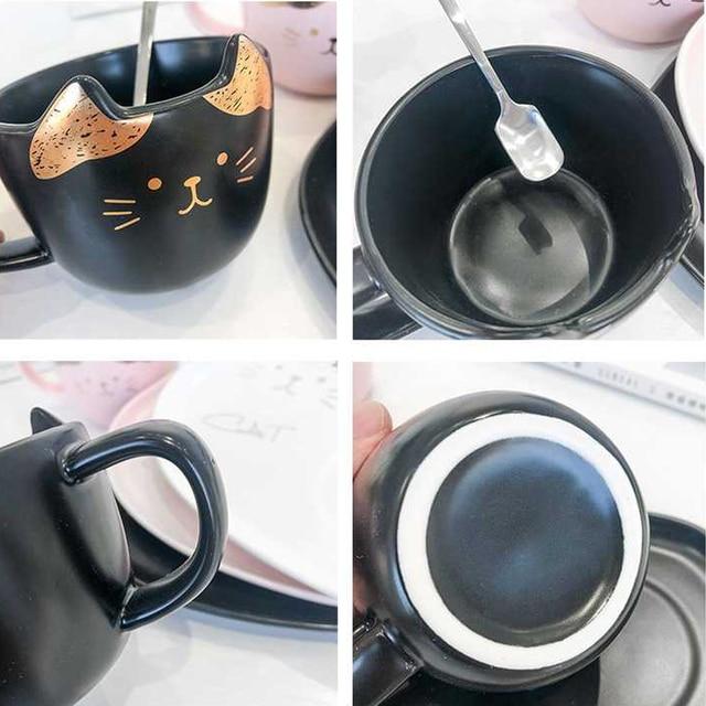 Cat Ceramic Coffee Cup Set  5