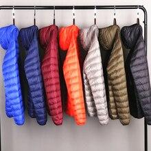 Doudoune en duvet emballée Ultra léger pour homme, manteau respirant de grande taille, résistant à leau et au vent, toute saison, collection vestes à capuche