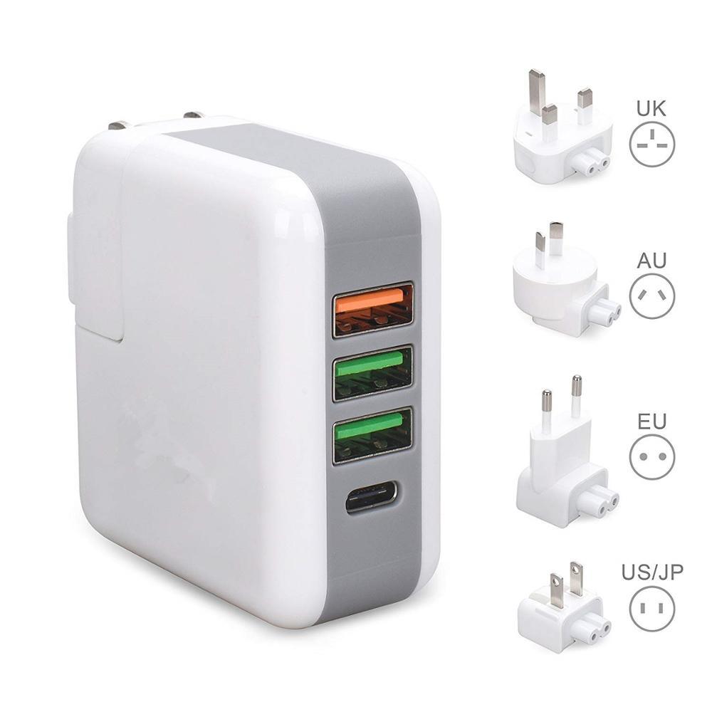 Fanshu быстрое зарядное устройство USB 4 порта Быстрая зарядка 3,0 Cargador дорожный адаптер сплиттер настенная зарядная станция с США ЕС Великобрита