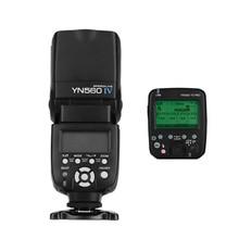 YONGNUO YN560 Ⅳ 2,4 GHZ Flash + YN560 TX PRO, disparador de Flash inalámbrico, transmisor LCD para cámara Canon Nikon Pentax