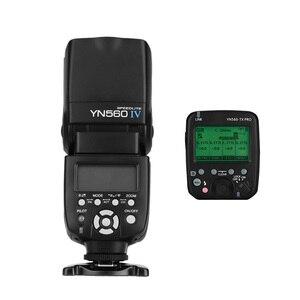 Image 1 - YONGNUO YN560 Ⅳ 2.4GHZ פלאש + YN560 TX פרו פלאש הדק אלחוטי משדר משדר LCD עבור Canon Nikon Pentax מצלמה