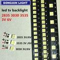 100 шт. 2 Вт 6 в 3535 ТВ ПОДСВЕТКА светодиодный 3 в SMD диоды холодный белый ЖК-Телевизор подсветка телевисао ТВ подсветка диод лампа ремонт примене...