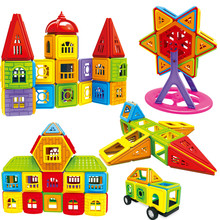 77-402PCS Magnetic Building Blocks Construction Set Modeling Building Toys Mini Size Magnet Designer Toys for Children Gifts(China)