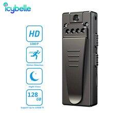 Icybelle 1080P Mini Camera Infrared Secret Camera Pen HD Sports DVR Camcorder Micro Video Voice Portable Digital Body Recording