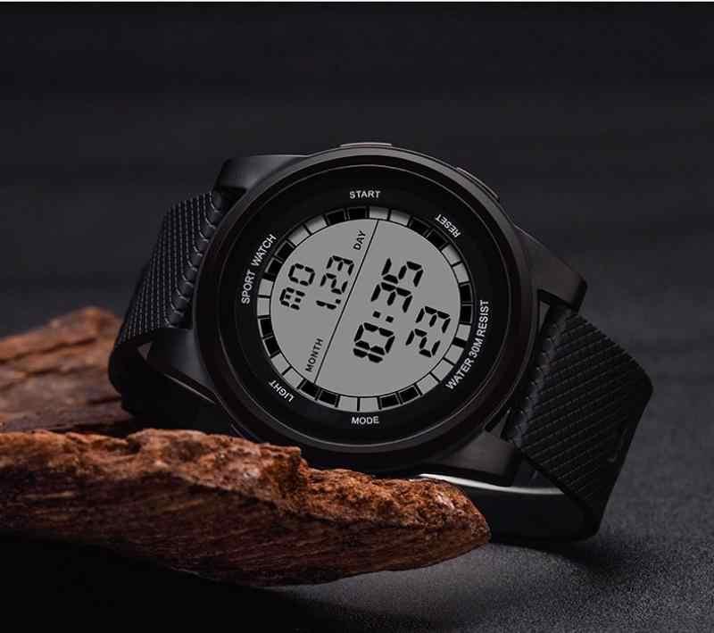 Gran oferta relojes multifunción deportivos para hombres reloj deportivo militar digital LED de silicona correa de goma masculino reloj de pulsera del ejército 2019