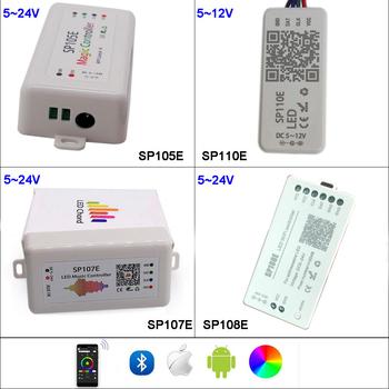 SP108E Wifi WS2811 WS2812B Led pilot do muzyki SP107E SK6812 SP105E Bluetooth APA102 SP110E WS2801 pikseli taśmy Led DC5-24V tanie i dobre opinie YJBCo CN (pochodzenie) APP control SP110E SP105E SP107E SP108E pixel controller Kontroler RGB 2 years led pixel strip ROHS