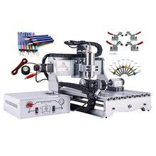 Vidalı CNC3040 gravür freze makinesi mach3 800W su soğutma mili