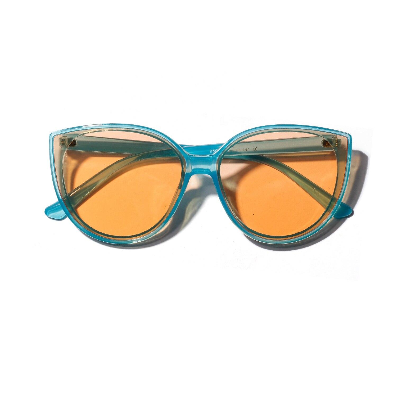 2020 Top Quay Round Oversize Big Frame Yellow Cat Eye SunGlasses Shades Women Female Uv400 Spectacles Gg Futuristic Luxury
