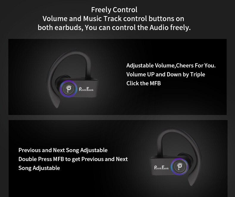 Sport Echte Draadloze Oordopjes Tws Draadloze Koptelefoon Bluetooth 5.0 Draadloze Hoofdtelefoon Bass Stereo Haak Oor Headset W/Opladen Doos 3