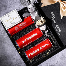 High-end custom engraving gift boxes rectangle box kraft paper bowknot coke packing box christmas Valentine's Day gift box 1pcs(China)