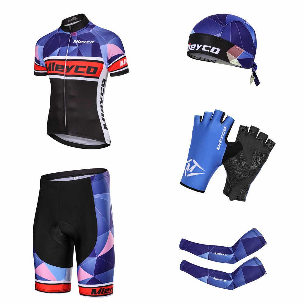 Pro takım bisiklet giyim erkekler kısa kollu bisiklet Jersey seti spor MTB giyim hızlı kuru erkek yol bisikleti elbise erkek sürme takım elbise