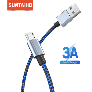 Suntaiho Micro USB Cable 3A Fast Charging for Samsung S7 Redmi Note 5 Pro Android Mobile Phone USB Micro Cable Charger Data Cord