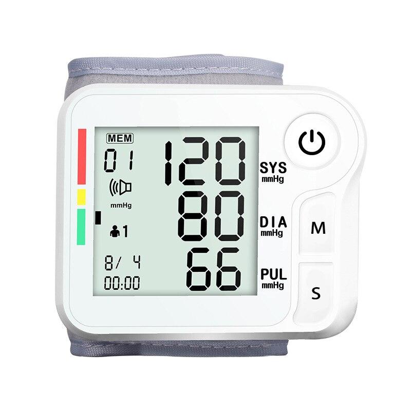 Automatic Wrist Blood Pressure Monitor LCD Digital Tonometer Sphygmomanometer Tensiometer Bloeddrukmeter Bp Heart Rate Meter