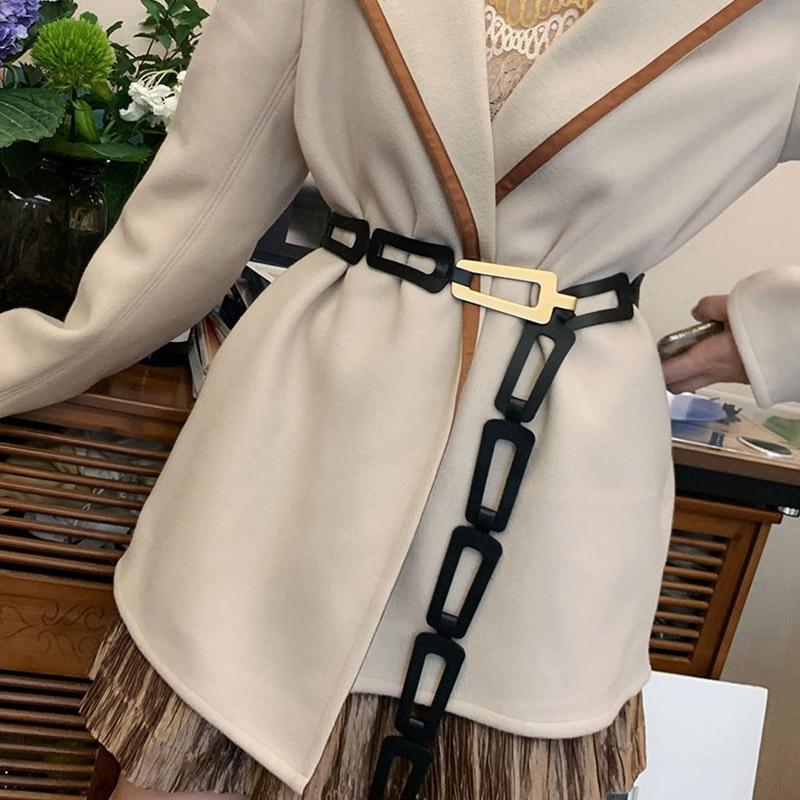2020 Designer Belts Women High Quality Genuine Leather Adjustable Long Belt Waist Fashion Luxury Brand Ceinture Femme Waistband