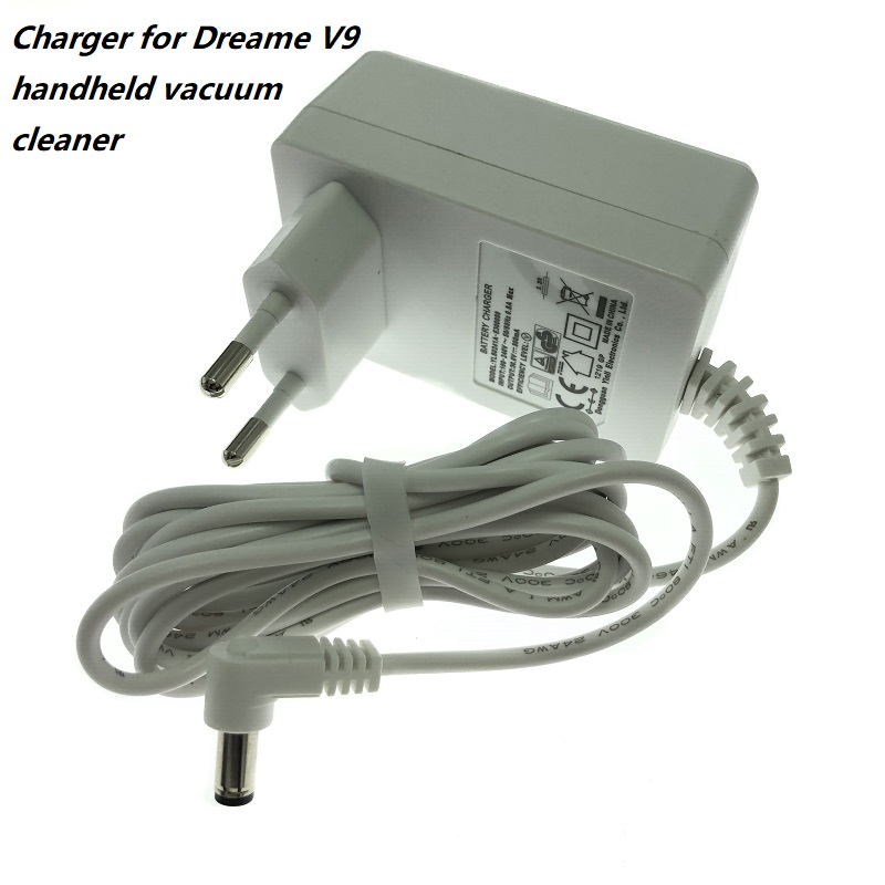 Power Adapter With EU Plug For Xiaomi Dreame V9 Wireless Hand Held Vacuum Cleaner V9 V10 Charger Replacement Spare Parts