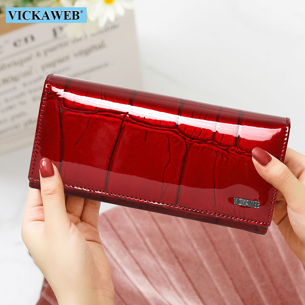 Free Gift Genuine Leather Women Wallet Magnetic Hasp Female Long Purse Ladies Coin Purses Fashion Wallets Women's Money Walet