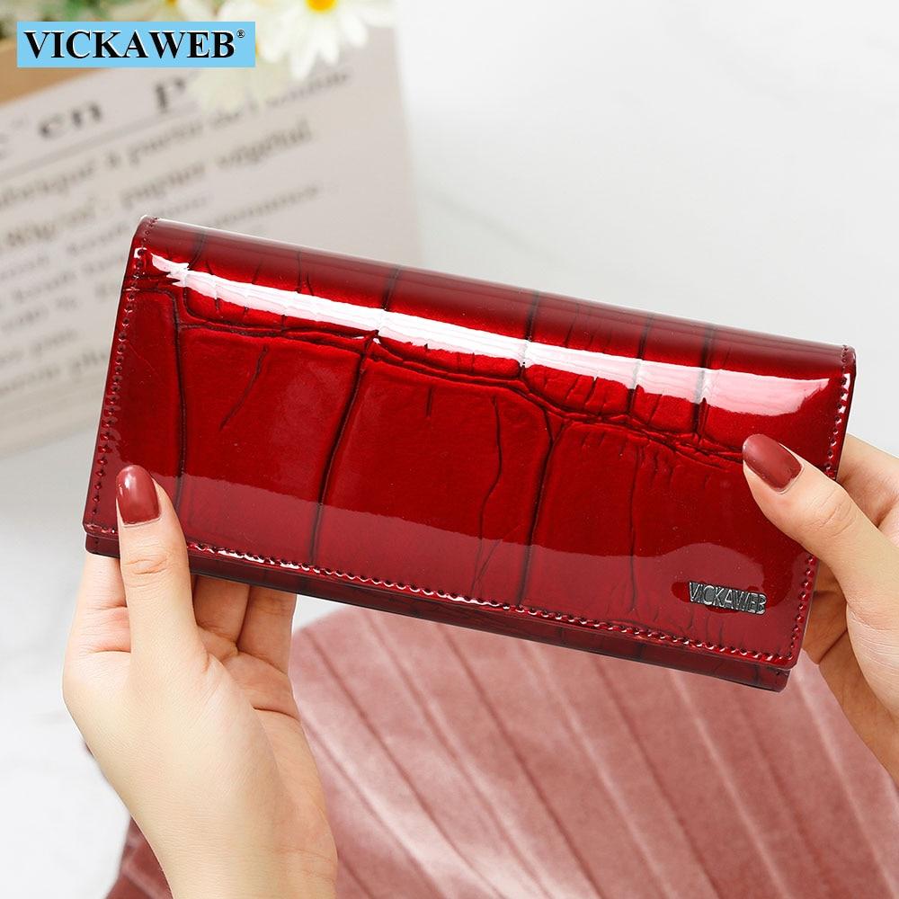 Livre de Couro Presente Genuíno Carteira Feminina Fecho Magnético Feminino Longo Bolsa Senhoras Moeda Bolsas Moda Carteiras Dinheiro Walet
