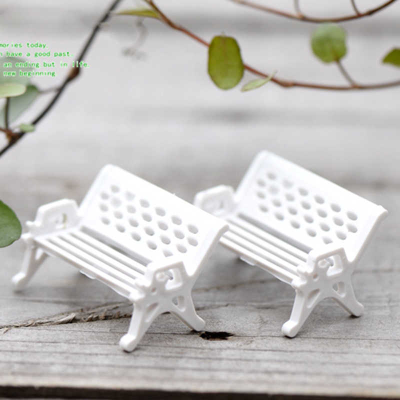 3 Ukuran Kursi Kursi Doll-Rumah Patung-patung Dekorasi Bangku Taman Bonsai Miniatur Succulent Resin Ornamen Taman Kerajinan