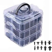 620pcs/box Auto Fastener Clip Mixed Car Body Push Retainer Pin Rivet Bumper Door Trim Panel Retainer Fastener Kit