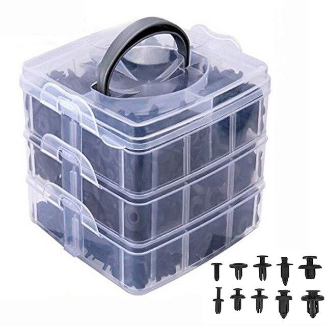 Kit de clips de fixation pour toutes les automobiles, rivets à pression, pour pare choc, 620, pièces/boîte, clips de fixation de garniture