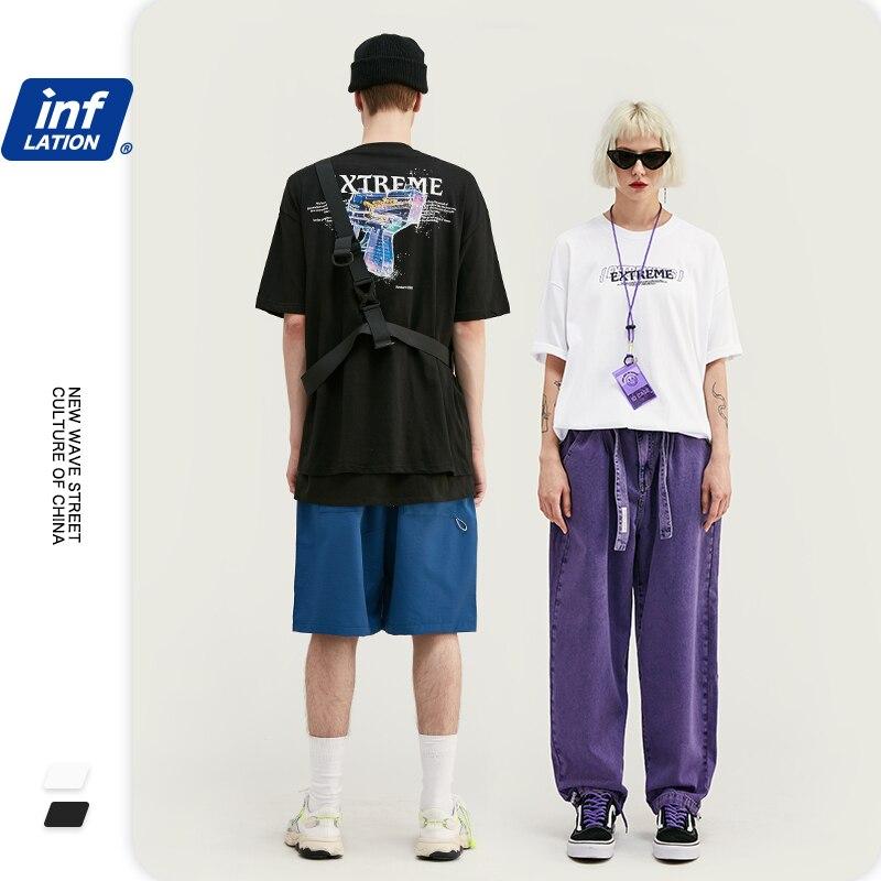 NFLATION Mens Tshirts Fashion 2020 Trending Cotton Men's T-Shirt Streetwear Men Top Tee Male Hip Hop Tee Shirt Homme 1084S20